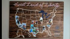 """Photos of States visited USA map """"sweet land of liberty"""""""