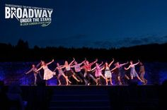 """Gabrielle Ruiz leads the cast in performing """"I Got Rhythm"""" at Transcendence Theatre Company's Broadway Under The Stars in Jack London State Park - Sonoma, Napa, Wine Country http://www.transcendencetheatre.org/ Photo By Ray Mabry"""