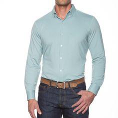 The Gingham Dress Shirt in Wright Light Green by Mizzen+Main