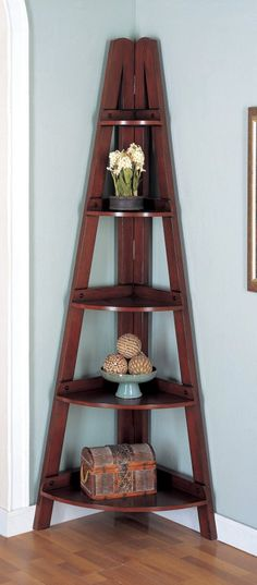 Corner Bookshelves are a great way to make any corner of your home stand out. I have a couple of these and they really make a room look different. LOVE them!