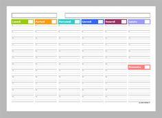 Planner settimanali da stampare