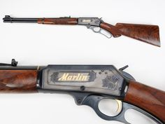 GUN OF THE DAY – Engraved Marlin Model 336 Rifle. The solid-top frame on the frame allowed this Marling M336 rifle to be easily scoped, which offered an advantage over Winchesters M94s in the same .30-30 chambering.  This example was the 3 millionth one made. See more images here: http://bit.ly/1C2wa25