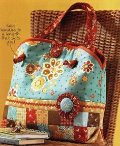 Bolsa Patchwork: link to instructions for bag.