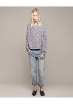 Girl by Band of Outsiders / Knit Tweed Sweatshirt