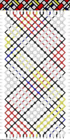 cross friendship bracelet pattern - Google Search