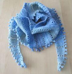 Gehaakte baktus sjaal met patroon door HeyLeuk