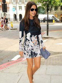mila kunis casual style | Mila Kunis wearing Cacharel minidress