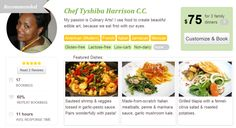 On our website you don't need to browse pages and pages of chefs to find the right fit. Instead we *recommend* a suitable chef for your area based on how affordable, reliable & available the chef is, thus saving you time and energy! (look for the grey ribbon in the top let corner)  Want to see which chef we'd recommend for you? Check here: http://foodsitter.com/#/chefs?n=3=51461ef7e1ba0aa276001322=any