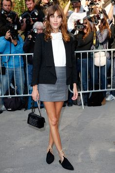 Pin for Later: 6 Looks That Made Us Realize How Badly We Needed These Flats If You Like to Keep It Subtle . . . Try a pair of contrast lace-up flats like Alexa Chung's. Look for neutral colors and ties that are a different shade than the base of your shoe.