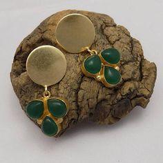 Gold & black  plated earring celeb earringparty earring