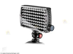 MANFROTTO Maxima Led Light ML840H torche vidéo 84 led + flash + batterie + rotule de fixation