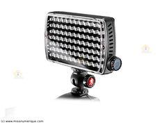 MANFROTTO Maxima Led Light ML840H torche vidéo 84 led + flash + batterie + rotule de fixation