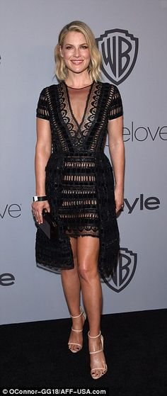 Lacy ladies: Shay Mitchell, Ali Larter andMichelle Monaghan went slightly sheer...