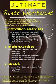 You best bum workout! Going to start this this week.