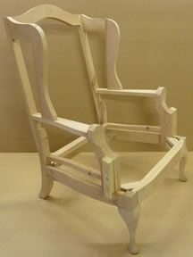 Wingback Chair Frame image.
