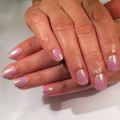 Miriam Trusiana uses #gelish in Light Elegant with #Lecente #glitter in Capri for these cute #nails
