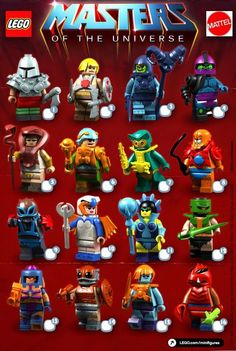 dc mini figures | Masters of the Universe Custom LEGO Minifigures - The Toyark - News