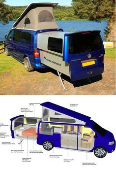 Doubleback VW Camper Van| Via Small Spaces Addiction I want one of ...