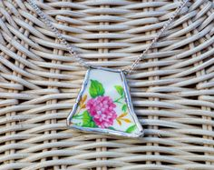 Broken China Jewelry Statement Necklace Upcycled by OutreJewelry