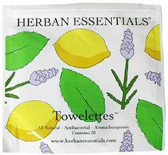 I'm learning all about Herban Essentials Assorted Towelettes at Clean Beauty, Counting, Cleanse, Essentials, Personal Care, Health, Amazon, Lotus, Diaper Bag