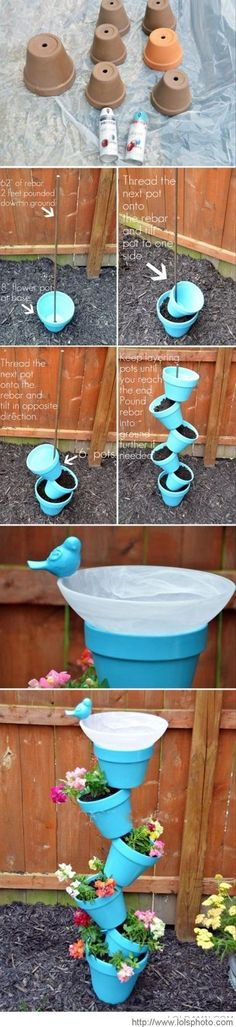 epic - Simple and ingenious flowerpots I'm Going To Have Fun Doing This One . Gods Blessings For All That See This . Amen