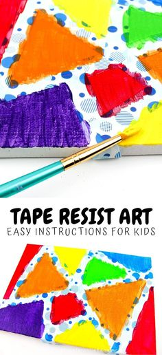 Your preschool and kindergarten aged kids will love this fun and simple art project! Parents can follow these easy instructions to create art at home. Use a variety of paint colors and simple supplies to design this art project at home. A great art activity for learning at home during the school year. Fun for homeschooling and preschool art time. #ArtForPreschool #STEAM #STEAMforPreschool Kindergarten Themes, Preschool Learning Activities, Preschool Science, Spring Activities, Toddler Activities, Preschool Activities, Steam For Preschool, Creative Arts And Crafts, Easy Art Projects