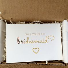 "Image of Hand-Curated ""Will You Be My Bridesmaid?"" Box"