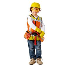Jeux dimitation avec Casque Ouvrier Jeux de Construction pour Enfants et B/éb/és Isuper juquete doutils