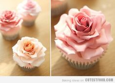 Absolutely beautiful pink rose cupcakes! I'll have to practice making roses in order to make these. Oh, how I wish I had paid more attention to my mama when she tried to teach me!
