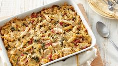 Inspired by the cheesy, savory spinach-artichoke dip that everyone loves, this chicken casserole will quickly become a favorite, too.