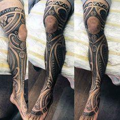 Full Leg Tribal Designs