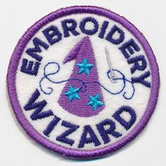 Crafty Merit Badges - Embroidery Wizard (Patch) | Urban Threads: Unique and Awesome Embroidery Designs