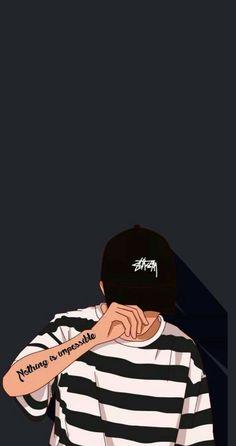 image Emo Wallpaper, Phone Wallpaper Images, Tumblr Wallpaper, Black Wallpaper, Dont Touch My Phone Wallpapers, Dope Wallpapers, Cute Cartoon Wallpapers, Supreme Wallpaper, Simple Portrait