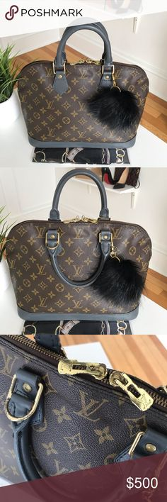 ac11fd14f1b1 Authentic Louis Vuitton Alma 🖤 This Authentic Louis Vuitton Alma bag has  been updated by painting