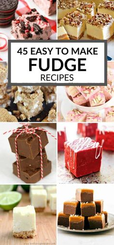 Fudge is delicious to eat and makes a great gift. Check out this collection of easy fudge recipes - there are so many flavors to choose from. #itisakeeper #fudge #christmas #foodgift #easyrecipe
