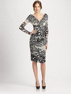 Fuzzi - Printed/Ruched Dress
