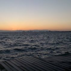 #sunset in #Thessaloniki #Greece ...