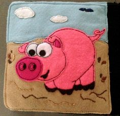 Tiffany's Animal Quiet Book - pig page