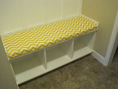how to make a bench cushion without sewing