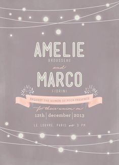 wedding invitations - Paris Lights by snickerdoodles