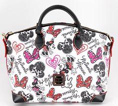 Disney Dooney & Bourke Minnie Mouse Hearts and Bows Crossbody Satchel Handbag