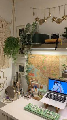 Indie Room Decor, Cute Room Decor, Aesthetic Room Decor, Room Design Bedroom, Room Ideas Bedroom, Bedroom Decor, Dorm Room Setup, Bedroom Inspo, Look Wallpaper