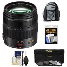 Panasonic Lumix G X Vario 12-35mm f/2.8 OIS Lens with 3 UV/CPL/ND8 Filters   Backpack Case   Kit for G5, G6, GF5, GF6, GH3, GH4, GM1, GX7 Digital Cameras -- Check out this great product.