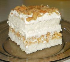 Polish Desserts, Polish Recipes, Eclairs, Sweets Recipes, Cake Recipes, Delicious Desserts, Yummy Food, Cake Bars, Food Cakes