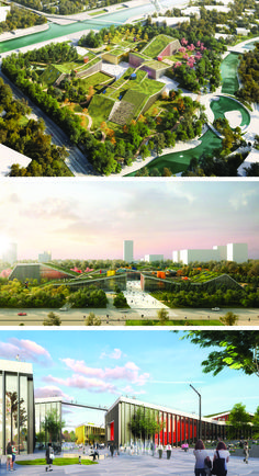 #AUS201718 #GroupH. (1) MVRDV (2) Shanghai (PRC) (3) Competition won 2017 (4) 100.000mq (5) Plan landscape of buildings topped with green roofs, future park, innovation district, multifunctional spaces (6) https://www.designboom.com/architecture/mvrdv-zhangjiang-future-park-shanghai-pudong-china-10-17-2017/