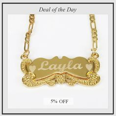 Today Only! 5% OFF this item.  Follow us on Pinterest to be the first to see our exciting Daily Deals. Today's Product: Custom Personalized Name Necklace 18K Gold Plated with Any Name Buy now: https://www.etsy.com/listing/280586374?utm_source=Pinterest&utm_medium=Orangetwig_Marketing&utm_campaign=personalized%20name%20necklace   #etsy #etsyseller #etsyshop #etsylove #etsyfinds #etsygifts #musthave #loveit #instacool #shop #shopping #onlineshopping #instashop #instagood #instafollow…