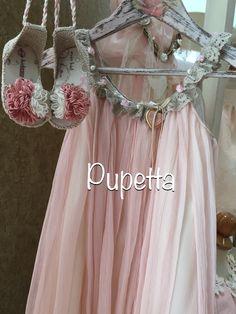 """Βαπτιστικό φόρεμα Βάπτισης """"Pupetta""""."""