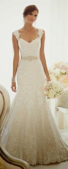 Wonderful Perfect Wedding Dress For The Bride Ideas. Ineffable Perfect Wedding Dress For The Bride Ideas. Lace Bridal, Bridal Gowns, Dream Wedding Dresses, Wedding Gowns, Lace Wedding, Wedding Beauty, Trendy Wedding, Elegant Wedding, Perfect Wedding