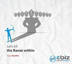 Let's kill the Ravan within Happy Dussehra Creative Poster Design, Ads Creative, Creative Posters, Navratri Wishes, Happy Navratri, Happy Dussehra Wallpapers, Happy Dusshera, Dussehra Images, Satirical Illustrations