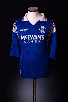 c2545c065 1996-97 Rangers Home Shirt... i had these! my father bought. Classic  Football ...